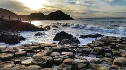 Giants Causeway at sunset, Sherry O - March 2015