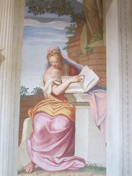 One of the many unexpected frescoes at Villa Emo , Susan E - March 2012