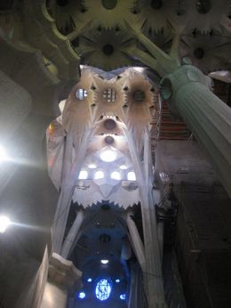 Inside La Sagrada Familia - March 2012