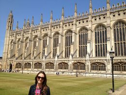 in Cambridge, after visiting King's College Chapel which was beautiful! , Rakela C - August 2013