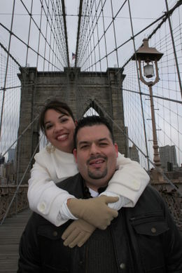 Brooklyn Bridge was amazing! , MICHAEL and RACHEL - December 2010