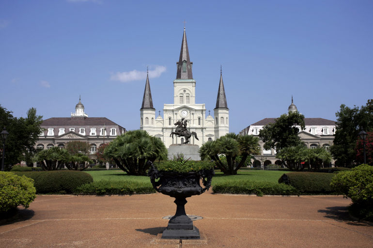 St. Louis Cathedral with Planter - New Orleans