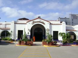 The front of the Rosarito Hotel - well worth a look inside as it is beautiful and quaint., Pamela C - January 2010