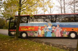 The bus was parked outside Helbrunn Castle - November 2008