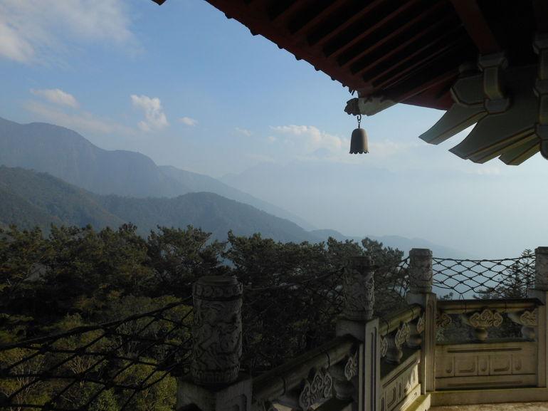 View of mountains from Ci En Pagoda at Sun Moon Lake -