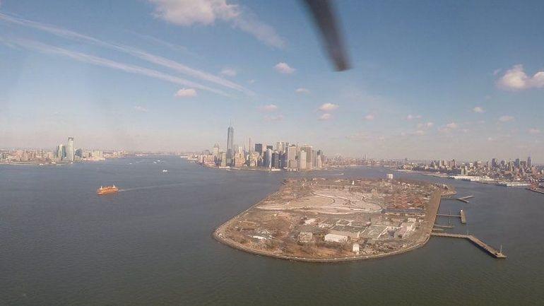 Zicht vanuit de helicopter - New York City
