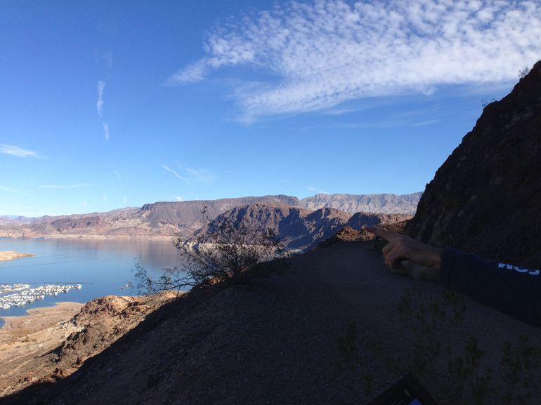 A view from our tour while we were biking to the Hoover Dam. - Las Vegas