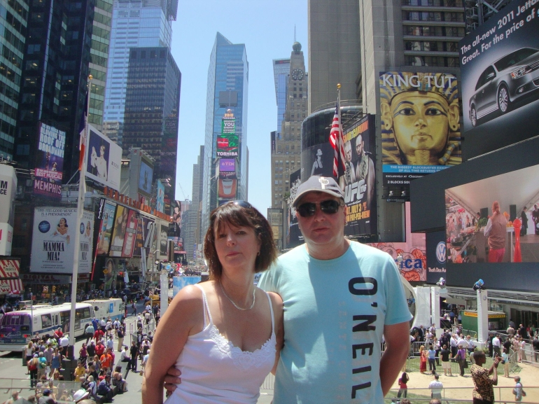 Hubby n me - New York City