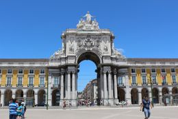 The Praca do Comercio located in the city of Lisbon, Portugal , Chan KW & SM San - July 2011