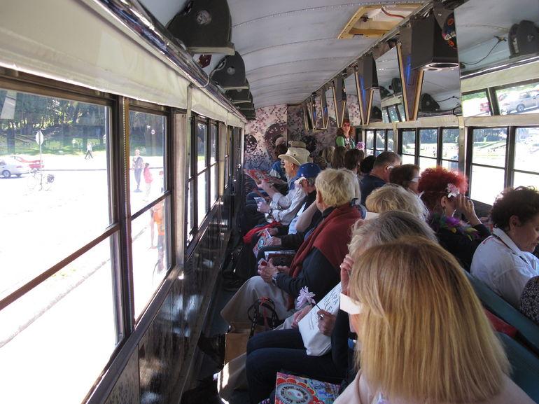 Magic Bus San Francisco Tour Group screens up.JPG - San Francisco