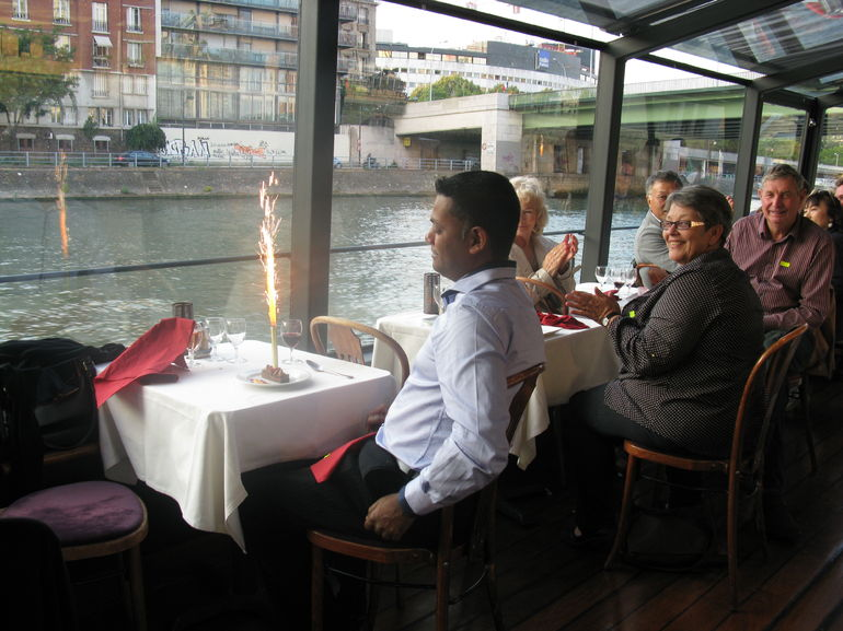 My Hubby Birthday Celebration In Seine Cruise Paris. - Paris
