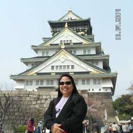 This is the main tower of the Osaka Castle Complex and the landmark of Osaka. Inside is museum and a souvenir shop , Catherine C - April 2014