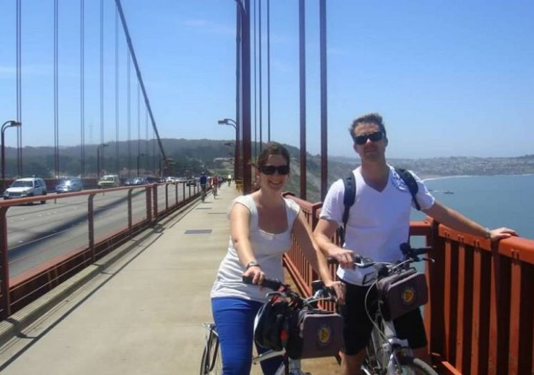 riding over bridge.JPG - San Francisco