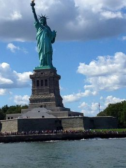 The harbor tour gets real close to the Statue! , Chris P - August 2016