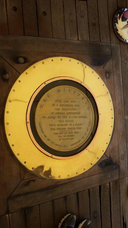The plaque commemorating Japan's surrender to the Allies which was signed on the deck of the Missouri , mickhesketh - September 2016