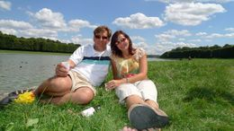 Relaxing by the Grand Canal at Versailles, July, 2009, Scott C - August 2009