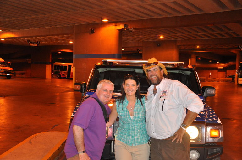 With the Hummer and Randy, our tour guide - Las Vegas