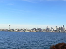 skyline of Seattle from Elliot's Bay , Arlene S - December 2013