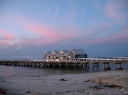 Busselton Jetty at sunset. Unfortunately my batteries ran out soon after taking this shot. - September 2008