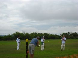 It was cricket training time and different teams were practicing on the field behind the Arabanoo Lookout - March 2010