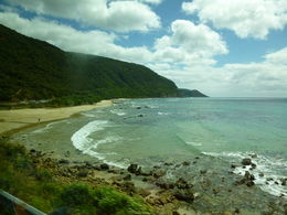 View from the coach just before we reached Apollo Bay. , Mikimoo - January 2013