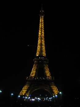 View of the Eiffel Tower on the Illuminations Tour - April 2008