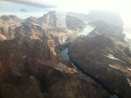 Over Hoover Dam in the helicopter , Joy P - July 2012