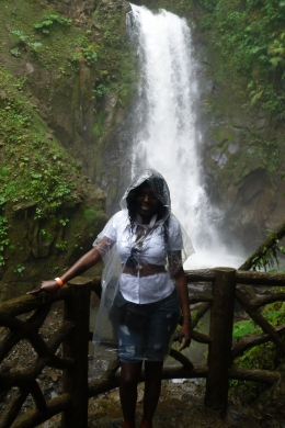 At the waterfall, Shaundrea M - September 2010