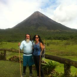Hiking to the volcano , coabey - November 2014