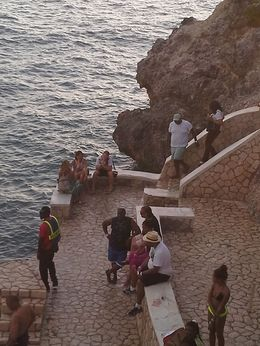 Tourists watching divers , Robin B - July 2013