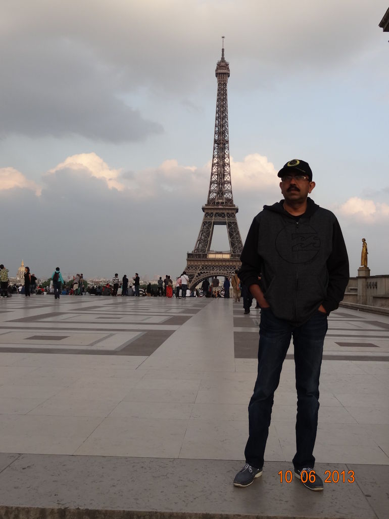 At the eiffel tower - Paris