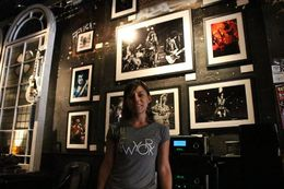 This is me in the store where the CBGB used to be , Valeria P - October 2015