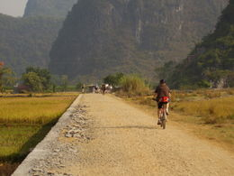 Biking along the Yangshuo countryside - May 2012