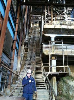 Our fabulous tour guide! He actually worked in the mine in the 70s and had great stories and facts to share., taylor - June 2012