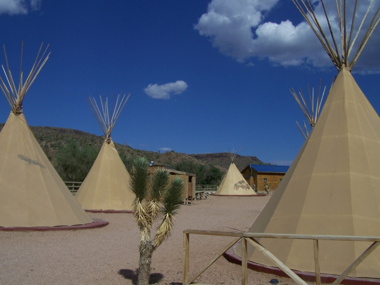Indian tipi's at the ranch - Las Vegas
