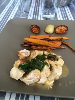 Prosciutto wrapped chicken with glazed carrots and potatoes , b_yancey - June 2015