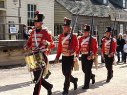 Soldiers marching through Sovereign Hill. , Kevin F - June 2014