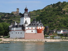 One of the classic Rhine River views - Pflaz Castle , Kevin F - August 2013
