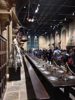 We wandered through the Great Hall where all of the Hogwarts students met for the first day. We got to see actual costumes from all of the teachers and of course many of the students. We even saw ... , William A - August 2013