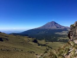 View of the active volcano from Iztaccihuatl , Justine C - November 2015