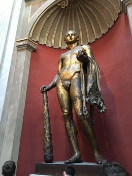 Bronze statue of Hercules , David M - August 2017
