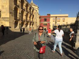 Aashaw Baksh walking in Toledo with tour guide on tour. Really glorious , farahbaksh - November 2017