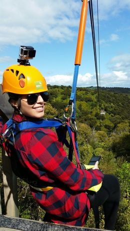 Right before the last zipline : , Semiha U - September 2015
