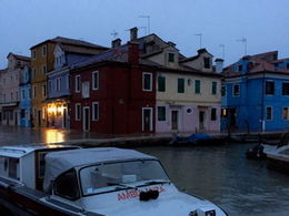 Burano was dark and mostly closed down when we arrived. , Sharon W - November 2015