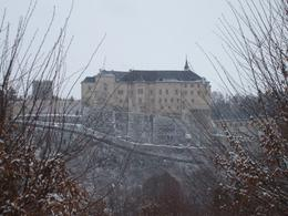 View from the Village. Don't worry you drive up there. This is a very beautiful and majestic castle. You are only able to see the 2nd floor as the current owner still lives on the 1st floor., Karl G - February 2009