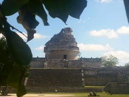 View of the Mayan Observatory, Chichen Itza , Mary G - February 2014