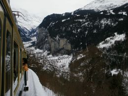 from the train up to kleine scheidegg - December 2009