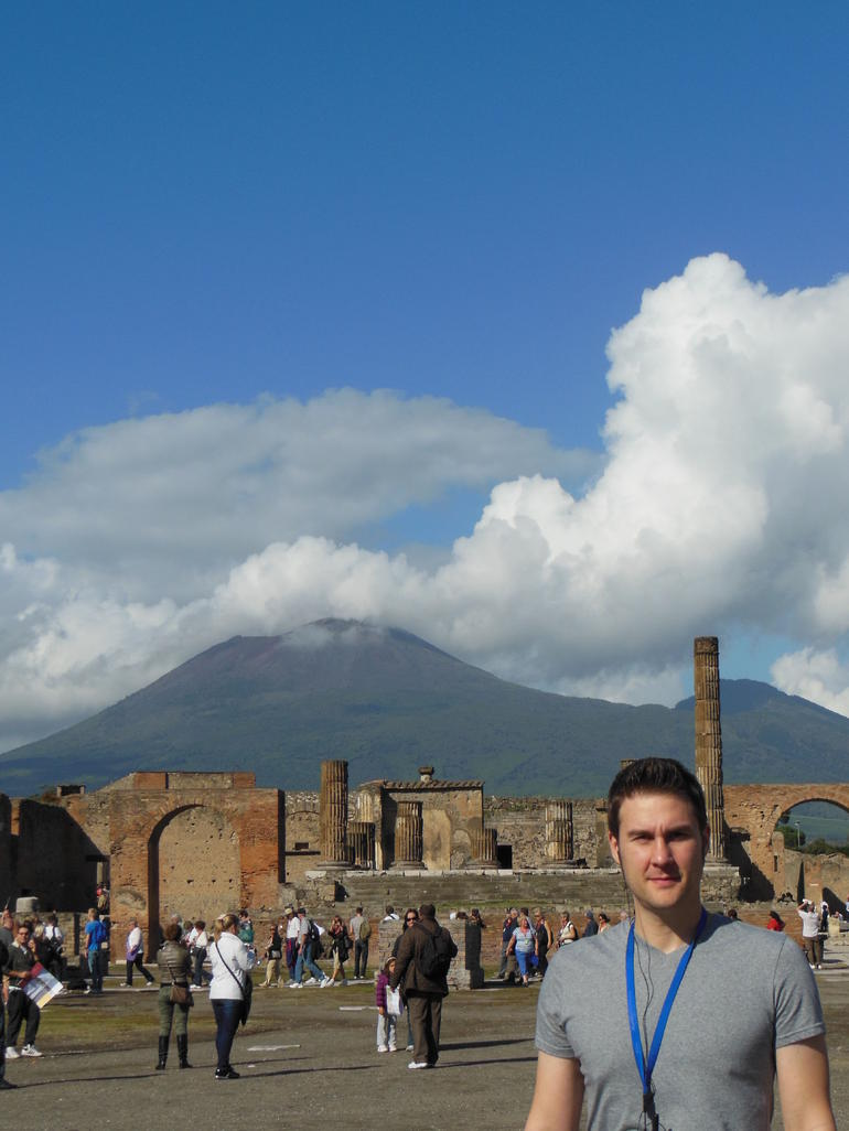 Pompeii in front of Mt. Vesuvius - Naples