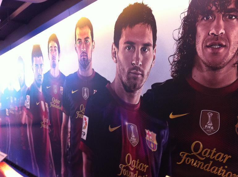 Stjerner i spillertunnellen - Barcelona