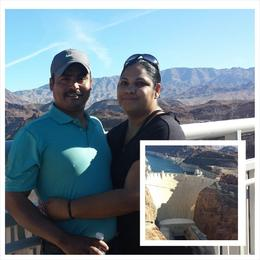 Me and my husband taking a picture of Hoover Dam. , Elicia.martinez72 - November 2014